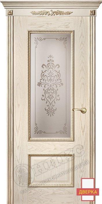 Марсель Декор Золотая патина Художественный сатинат Вензель