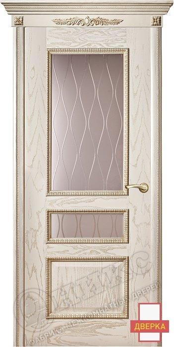 Версаль Декор Патина Сатинат с гравировкой Волна