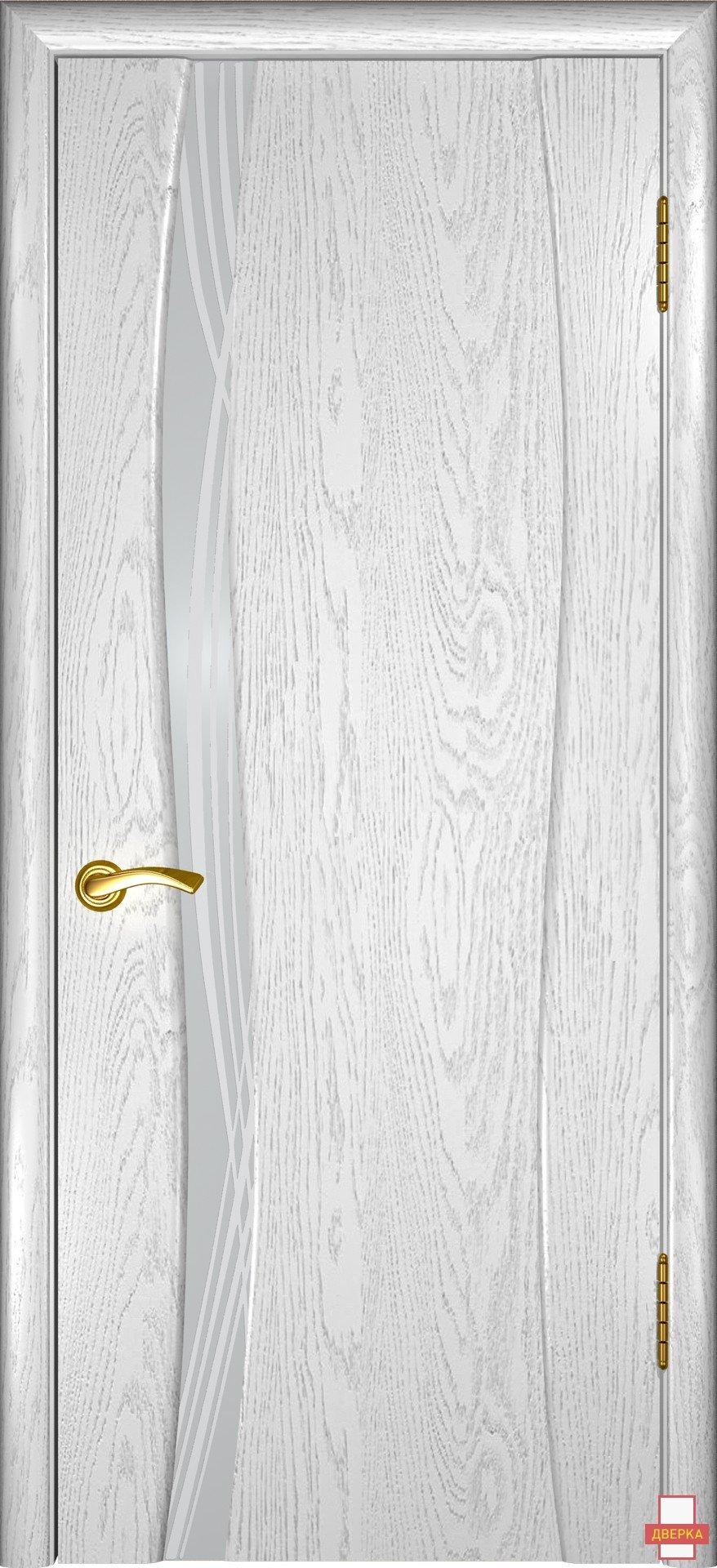 Аква 1 Дуб белая эмаль Стекло Триплекс