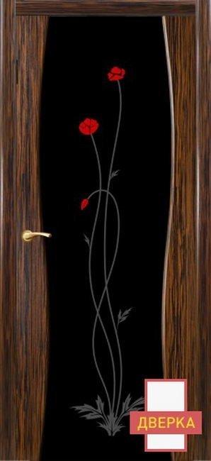 Грация Эбен Стекло Черное Триплекс Рисунок 14