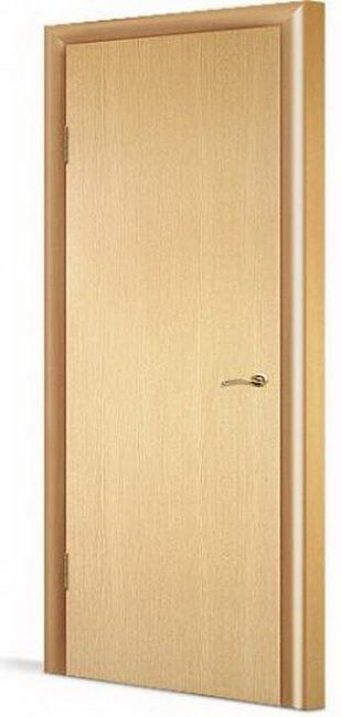 Дверь в комплекте гладкая с четвертью