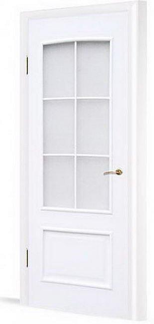 Дверь в комплекте с четвертью стекло