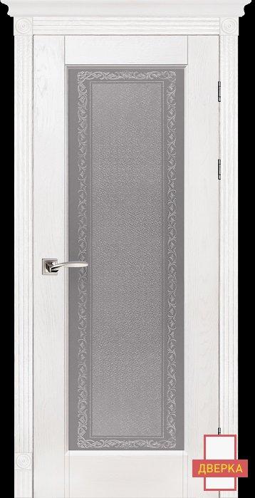 Classic Модель №3 Белый Стекло Массив Дуба
