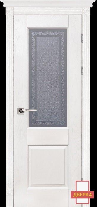 Classic Модель №2 Белый Стекло Массив Дуба